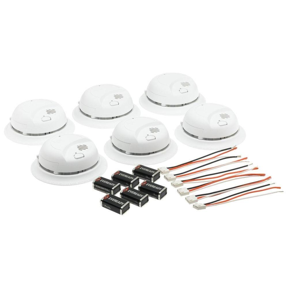 BRK BRK 120-Volt Hardwire Ionization Sensor Smoke Alarm with Battery Backup (6-Pack)