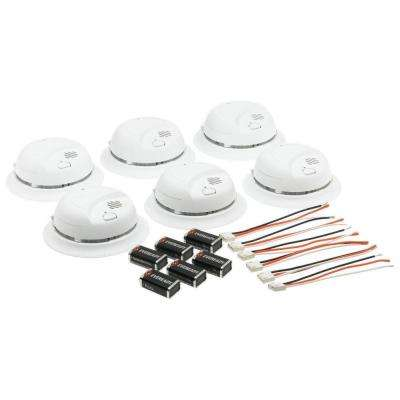 120-Volt Hardwire Ionization Sensor Smoke Alarm with Battery Backup (6-Pack)