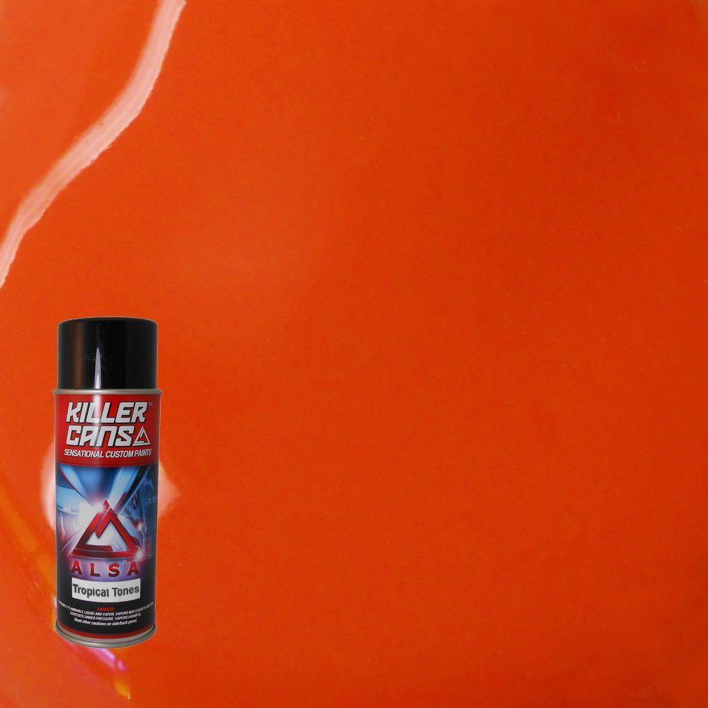 12 oz. Tropical Tones Fire Orange Killer Cans Spray Paint