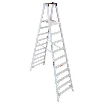 16 ft. Reach Aluminum Platform Twin Step Ladder with 300 lb. Load Capacity Type IA Duty Rating