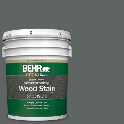 5 gal. #BXC-41 Charcoal Solid Color Waterproofing Exterior Wood Stain