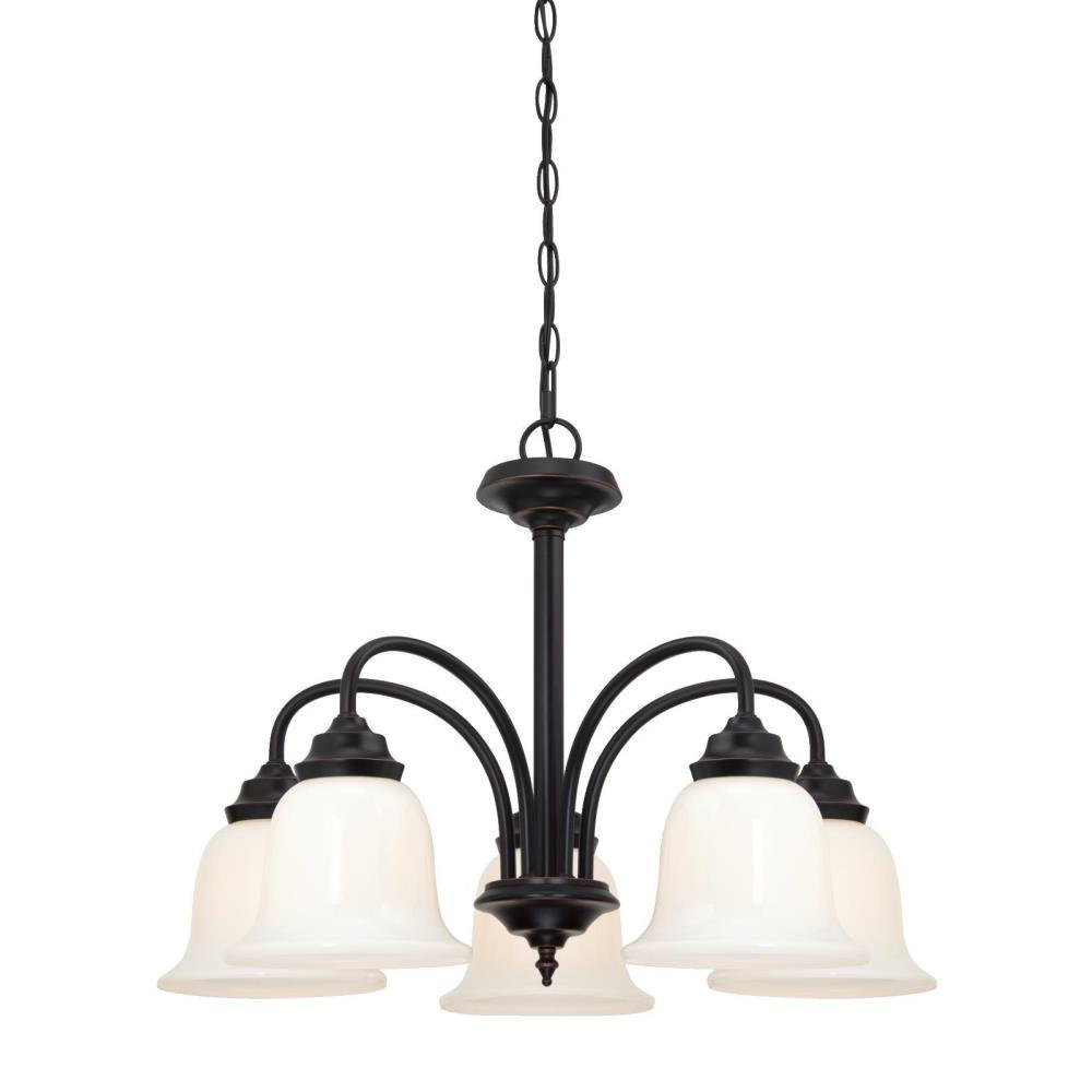 Westinghouse Harwell 5-Light Amber Bronze Chandelier With