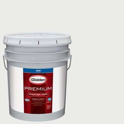 5 gal. #NBA-200B Brooklyn Nets White Satin Interior Paint with Primer