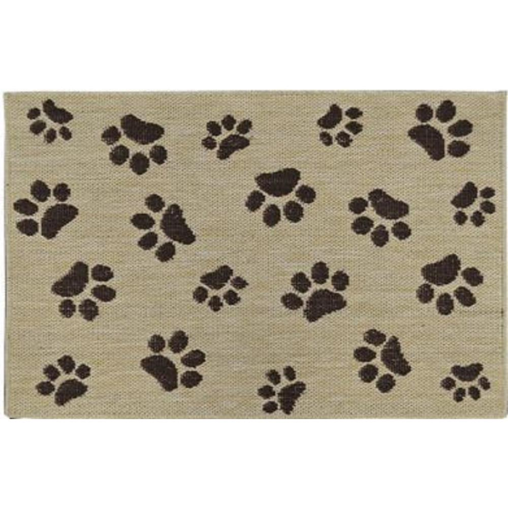 Home Dynamix Comfy Pooch Tan Brown Paw 23 6 In X 35 4 In Pet Mat 4