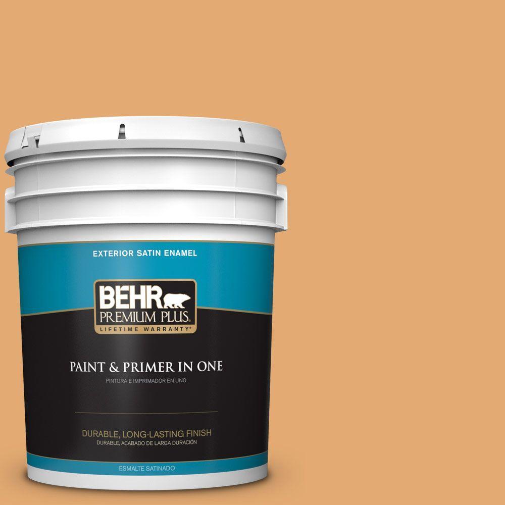BEHR Premium Plus 5-gal. #PMD-75 Autumn Gourd Satin Enamel Exterior Paint