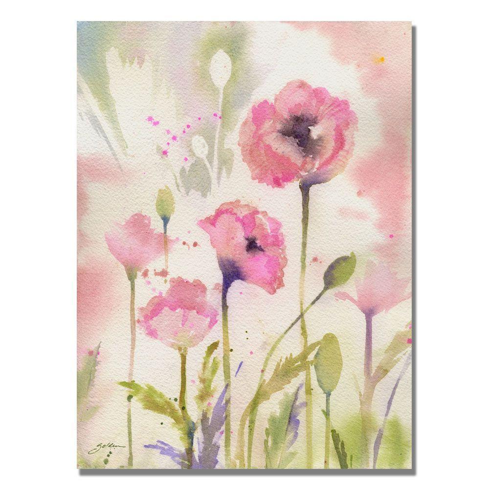 35 in. x 47 in. Oriental Poppy Garden Canvas Art