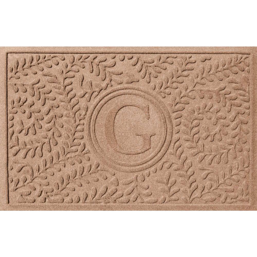 Boxwood Medium Brown 24 in. x 36 in. Monogram G Door
