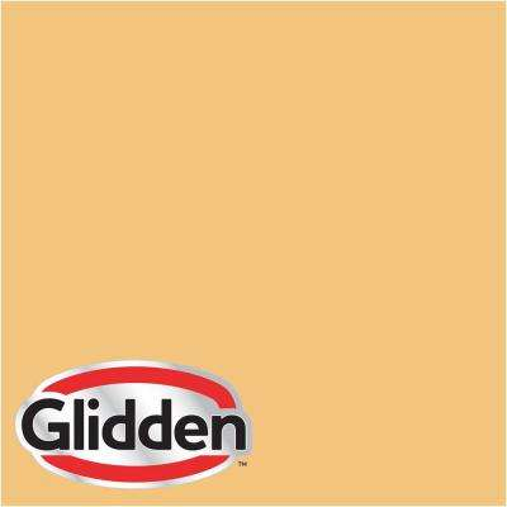 8 oz. #HDGY07 Prairie Grass Gold Flat Interior Paint Sample