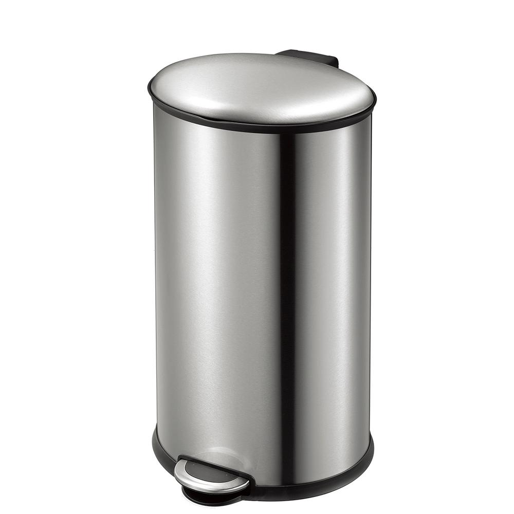 Ellipse Stainless Steel 35 Liter/9.2 Gallon Oval Step Trash Can