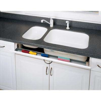 3 in. H x 22 in. W x 1.688 in. D Stainless Tip Out Sink Front Tray