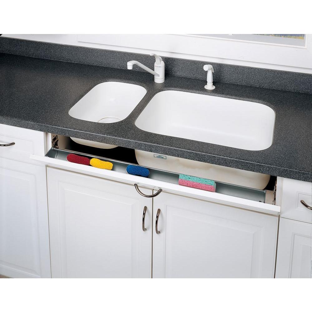 Rev-A-Shelf 3 in. H x 25 in. W x 1.688 in. D Stainless Tip Out Sink ...