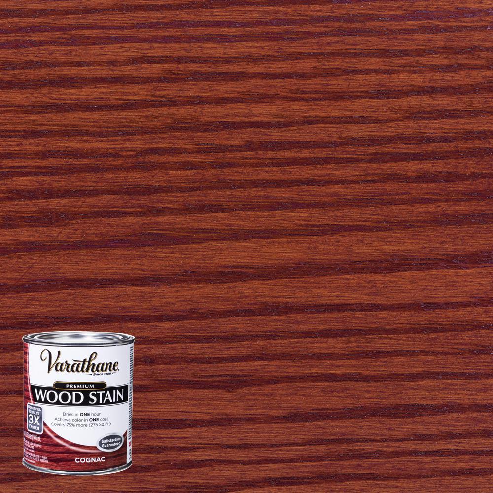 1 qt. Cognac Premium Fast Dry Interior Wood Stain (2-Pack)