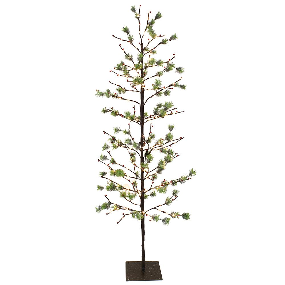 new style 92d70 e6dce Puleo International 6 ft. Pre-Lit Twig Tree with 240 White LED Twinkle  Lights
