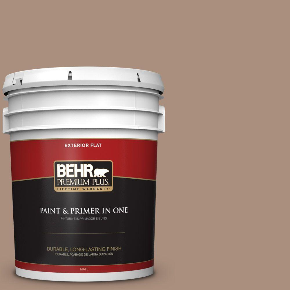 5-gal. #BNC-13 Cozy Cocoa Flat Exterior Paint