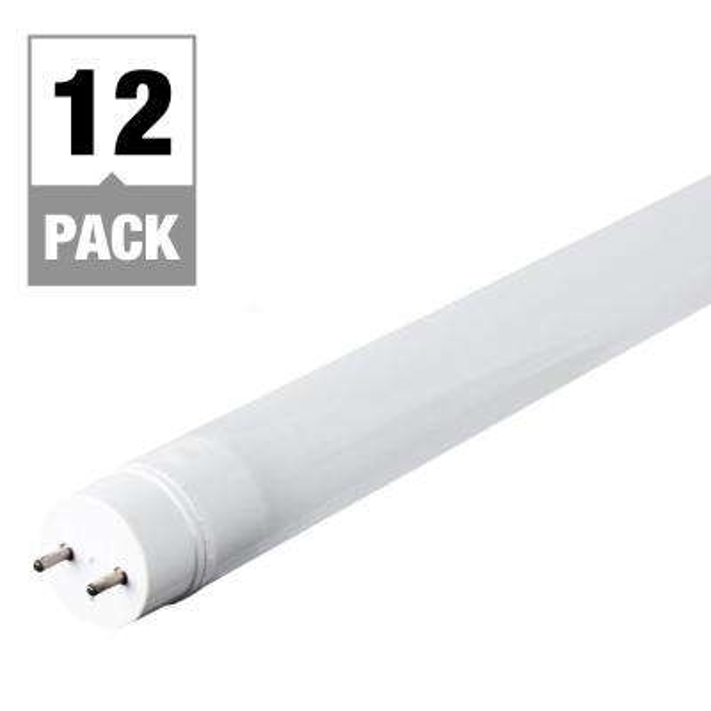 15-Watt 4 ft. Linear T8/T12  Replacement LED Light Bulb Cool White (12-Pack)