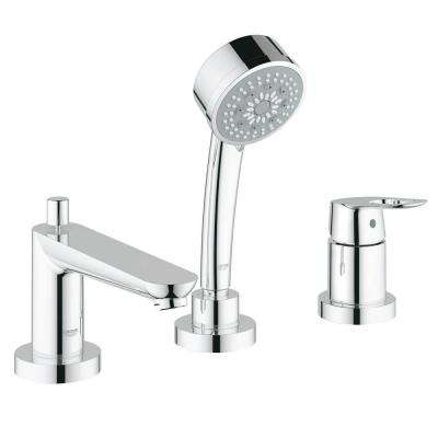 BauLoop Single-Handle Deck-Mount Roman Tub Faucet in StarLight Chrome (Valve Not Included)