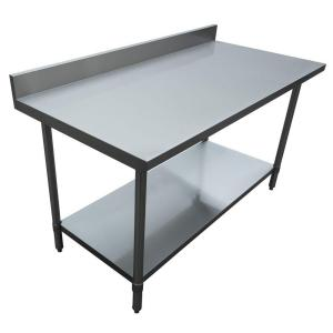 Stainless Steel Kitchen Utility Table With Backsplash Part 82
