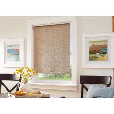 Cut-to-Width Origami Pleats Linen Light Filtering Cordless Roller Shade - 36 in. W x 64 in. L