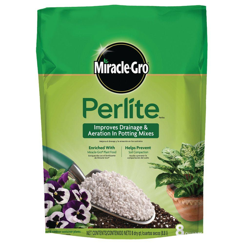 Miracle gro 8 qt perlite 74278430 the home depot - Home depot miracle gro garden soil ...