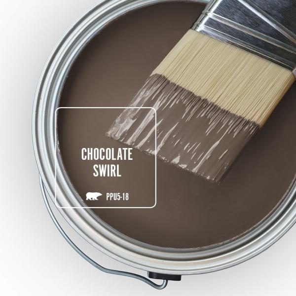 Reviews For Behr Ultra 1 Gal Ppu5 18 Chocolate Swirl Extra Durable Semi Gloss Enamel Interior Paint Primer 375301 The Home Depot