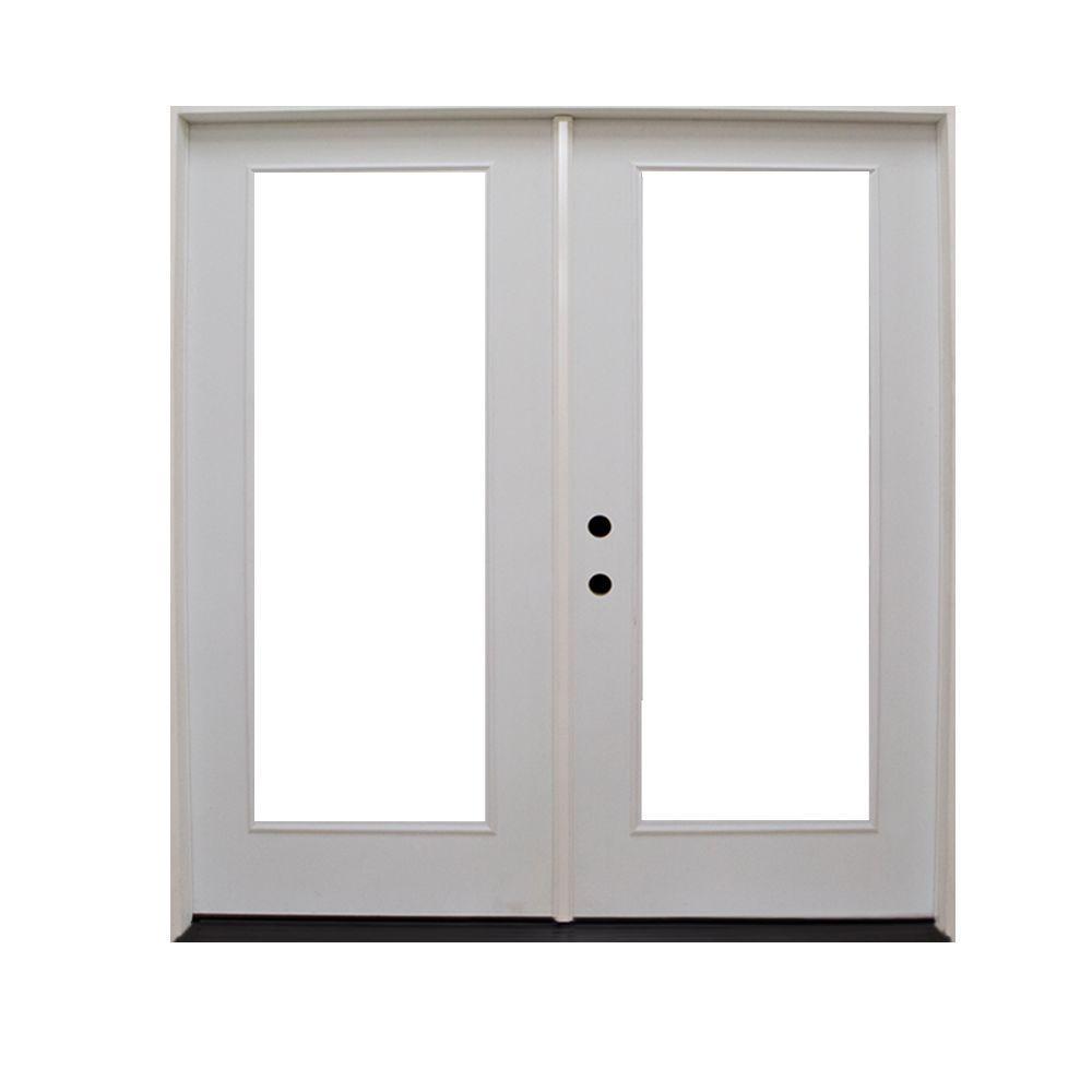 Steves & Sons 48 in. x 80 in. Premium Prehung Right-Hand Inswing Primed White Fiberglass Patio Door
