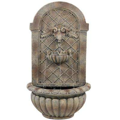 Venetian Florentine Stone Electric Powered Outdoor Wall Fountain
