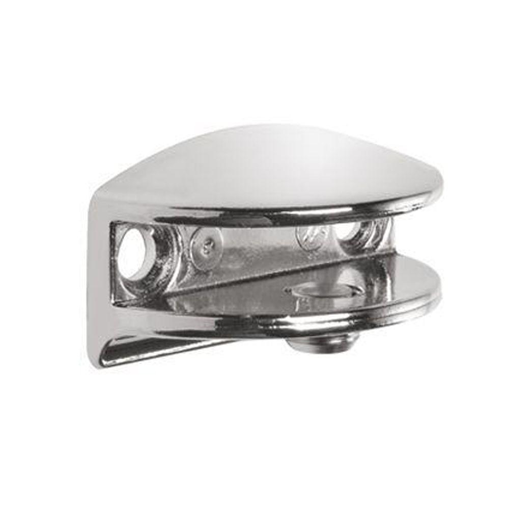 FLIC Chrome Metal Shelf Bracket for 1/4 - 5/16 in. H Shelves