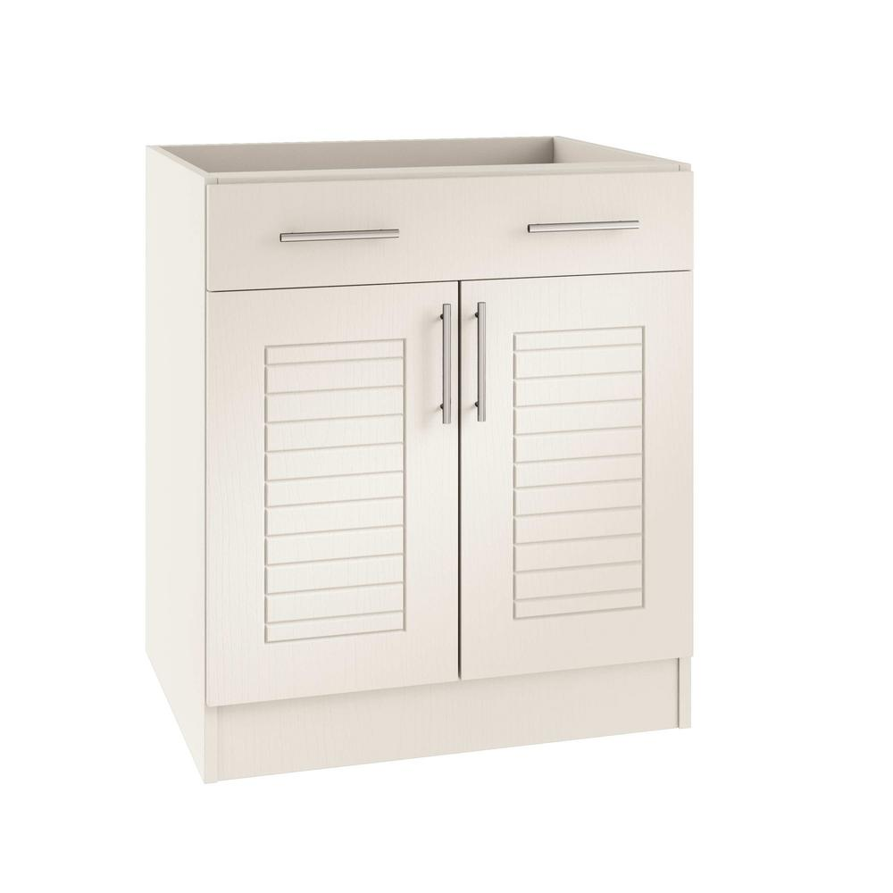 Assembled 36x34.5x24 in. Key West Open Back Outdoor Kitchen Base Cabinet