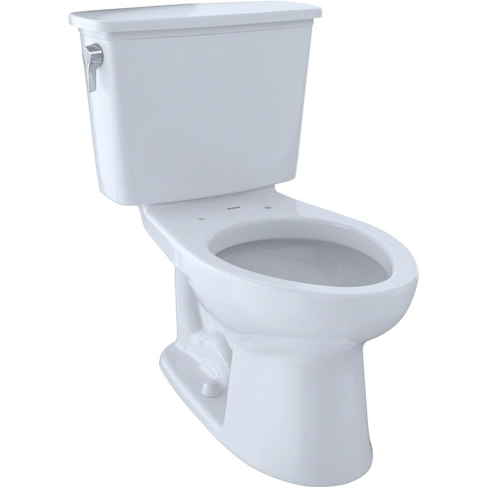 TOTO Eco Drake Transitional 2-Piece 1.28 GPF Single Flush Elongated Toilet with CeFIONtect in Cotton White