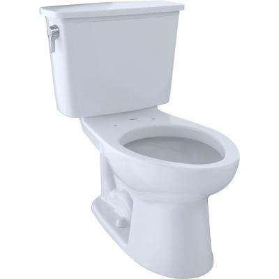 Eco Drake Transitional 2-Piece 1.28 GPF Single Flush Elongated Toilet with CeFIONtect in Cotton White
