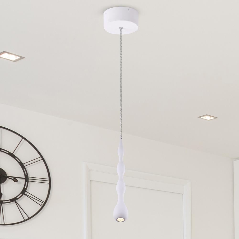 Polaris VMP24510WH 7-Watt White Integrated LED Pendant