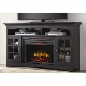 Altra Furniture Manchester Black Fire Place Entertainment Center ...