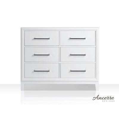 Ellie 41 in. W x 21 in. D Vanity Cabinet Only in White