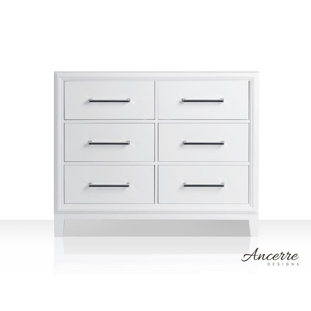 Ellie 41 in. W x 21 in. D Vanity Cabinet Only in White