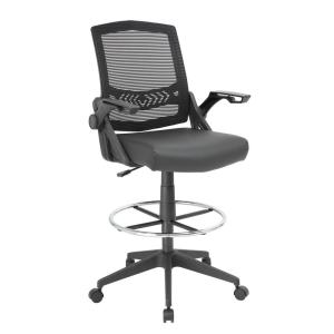 Swell 47 5 In Black Mesh Flip Arm Drafting Stool Gmtry Best Dining Table And Chair Ideas Images Gmtryco