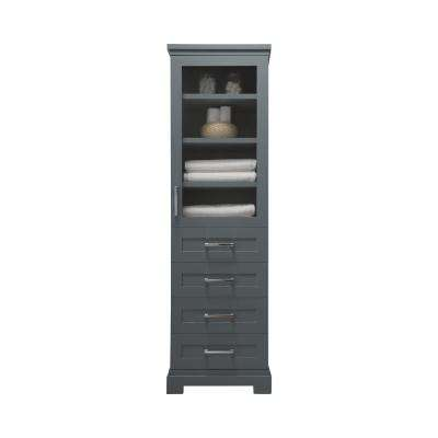 Lynn 20 in. W x 15 in. D x 68 in. H Tall Side Unit in School House Slate