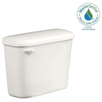 Colony 1.28 GPF Single Flush Toilet Tank Only for 10 in. Rough in White