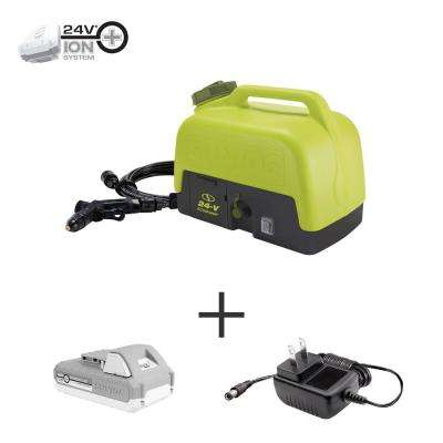 24-Volt 1.5 GPM 116 Max PSI Cordless Go-Anywhere Portable Shower Spray Washer Kit with 2.0 Ah Battery + Charger