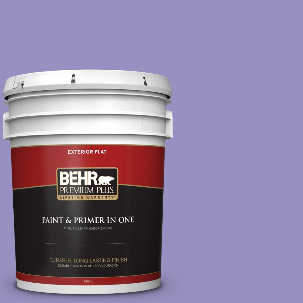 5 gal. #PPU16-05 Lily of the Nile Flat Exterior Paint