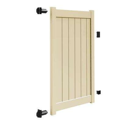Bryce and Washington Series 4 ft. W x 6 ft. H Sand Vinyl Un-Assembled Fence Gate