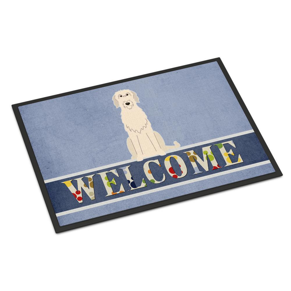 18 in. x 27 in. Indoor/Outdoor Irish Wolfhound Welcome Door Mat