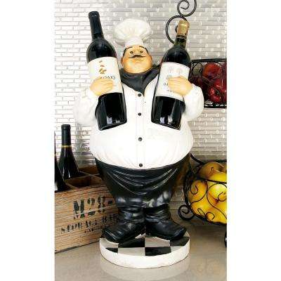 12 in. W x 24 in. H Polystone Gourmet Chef 2-Bottle Wine Holder