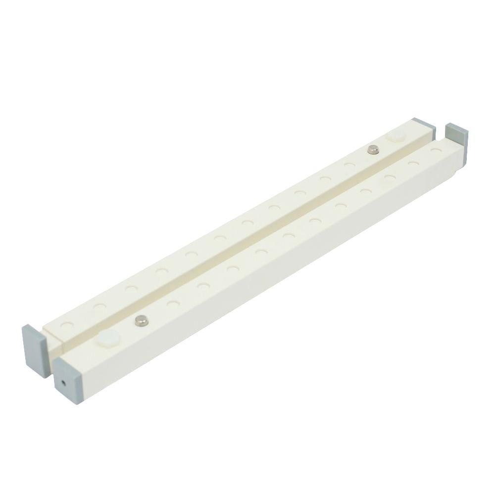 30 in. High-Impact Plastic White Security Burglar Bar and Secondary Window
