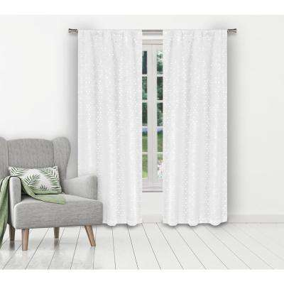 Margie 38 in. W x 84 in. L Polyester Window Panel in White