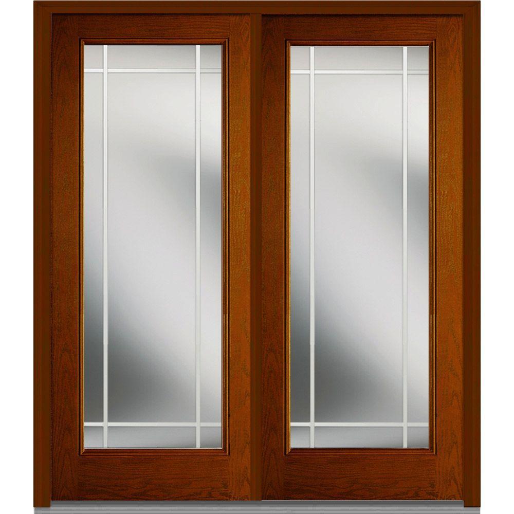 Mmi door 72 in x 80 in gbg right hand full lite classic for 72 x 80 exterior door