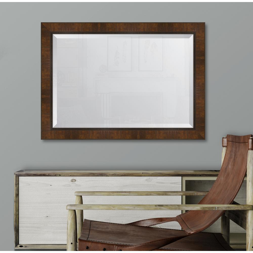 30 in. x 42 in. Framed 3 in. Walnut Scoop Montalcino Resin Frame Mirror