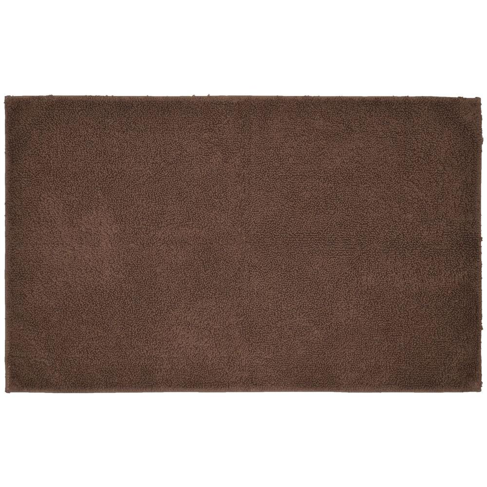 Garland Rug Queen Cotton Chocolate 24 In. X 40 In. Washable Bathroom Accent Rug-QUE-2440-14