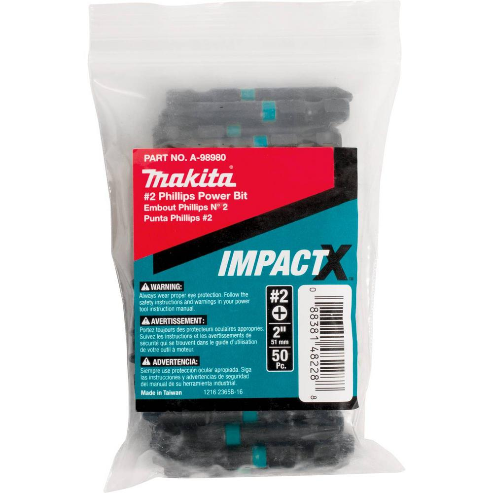 ImpactX #2 Phillips 2 in. Modified S2 Steel Power Bit (50-Pack)