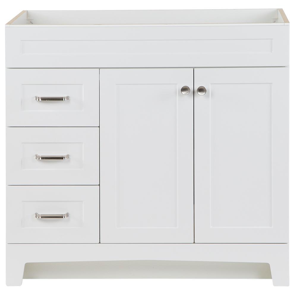 Thornbriar 36 in. W x 21.52 in. D x 34.2 in. H Bath Vanity Cabinet Only in White