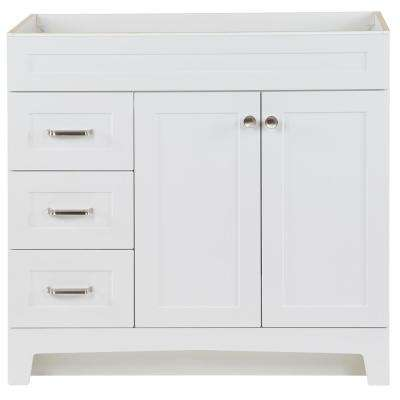 Thornbriar 36 in. W x 21.52 in. D x 34.2 in. H Bath Vanity Cabinet Only in White